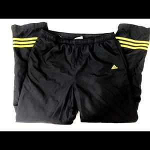Adidas black and yellow pants